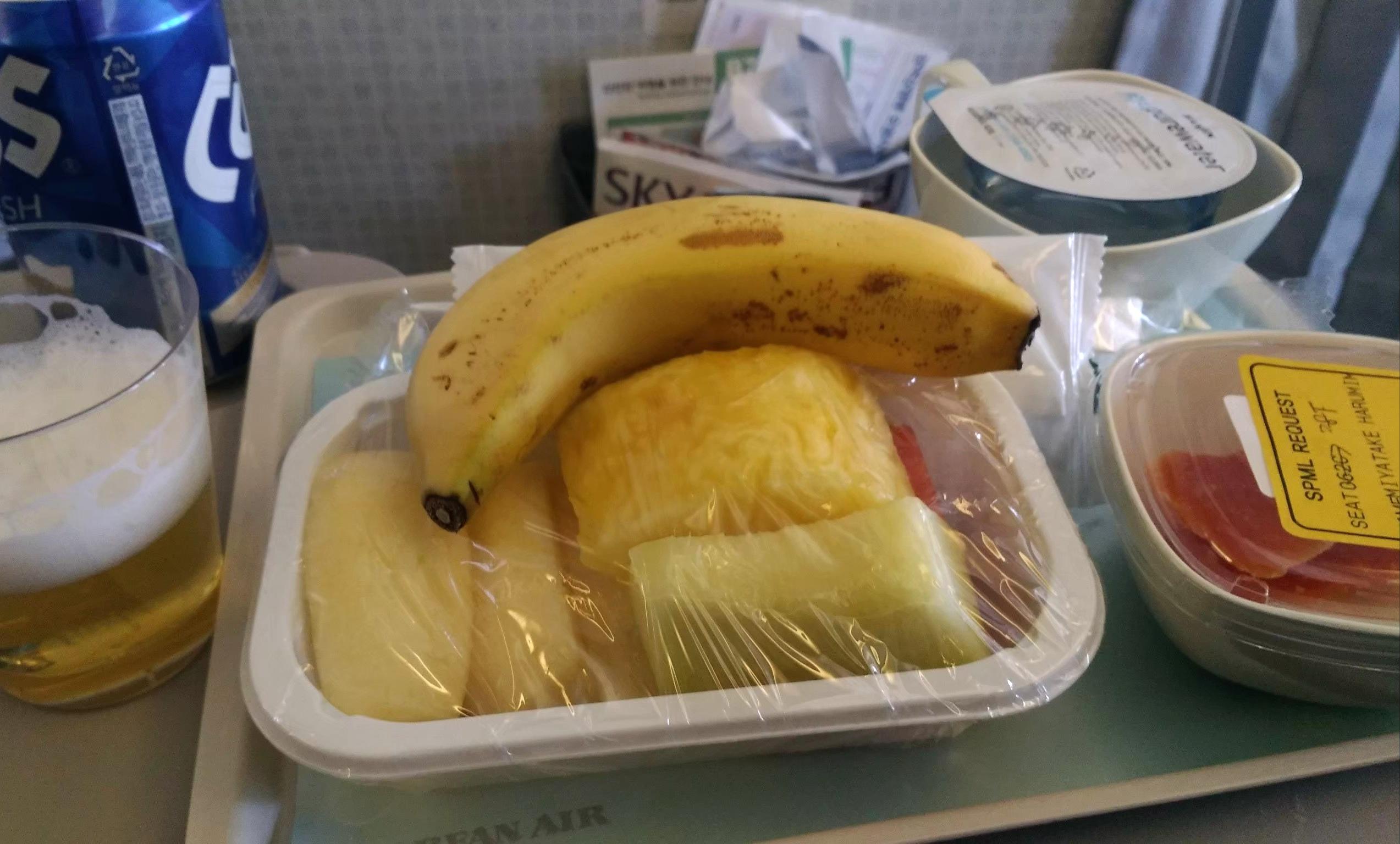 大韓航空 KoreanAir KE 機内食 特別機内食 フルーツミール