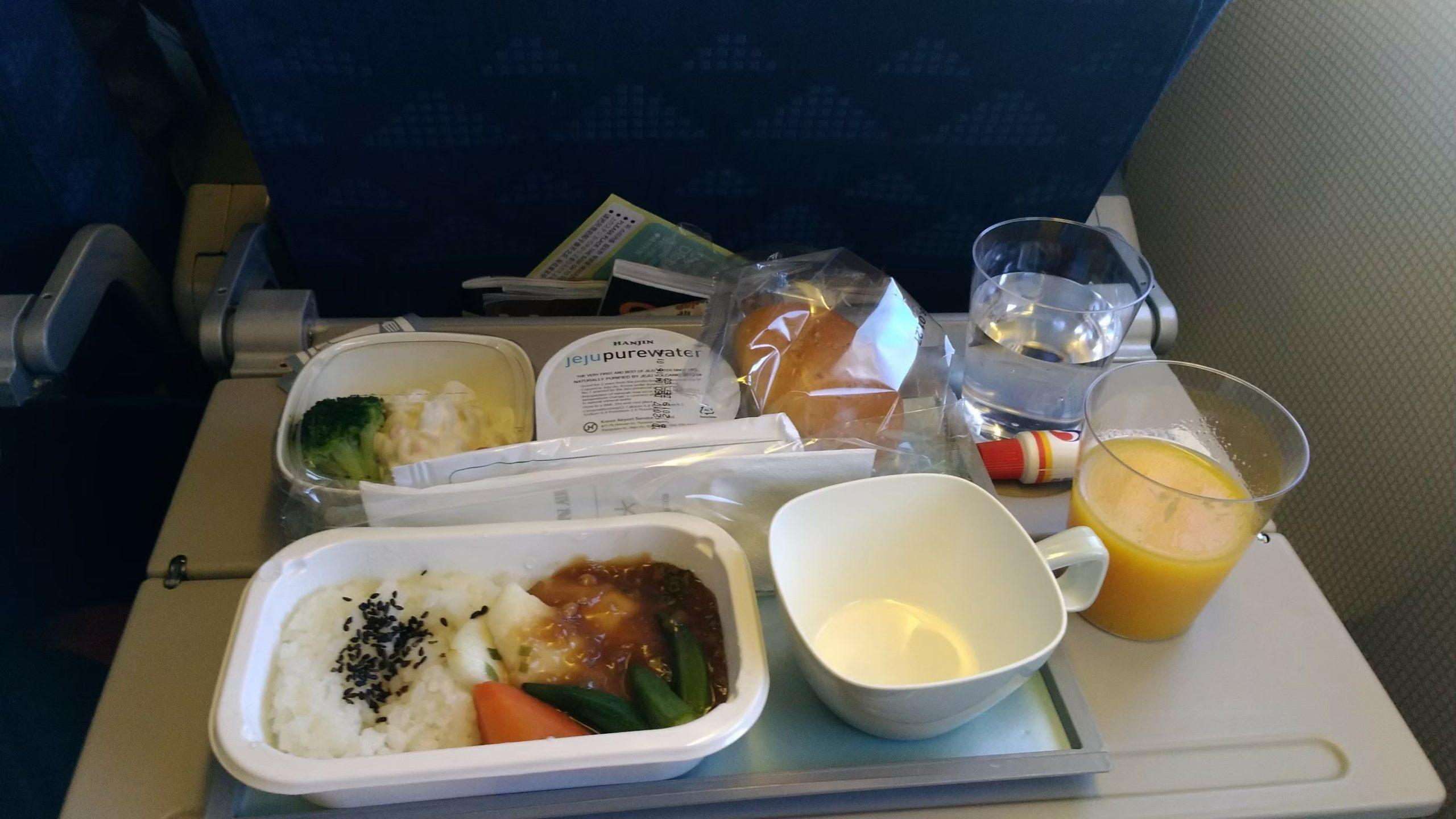 大韓航空 KoreanAir KE 機内食 特別機内食